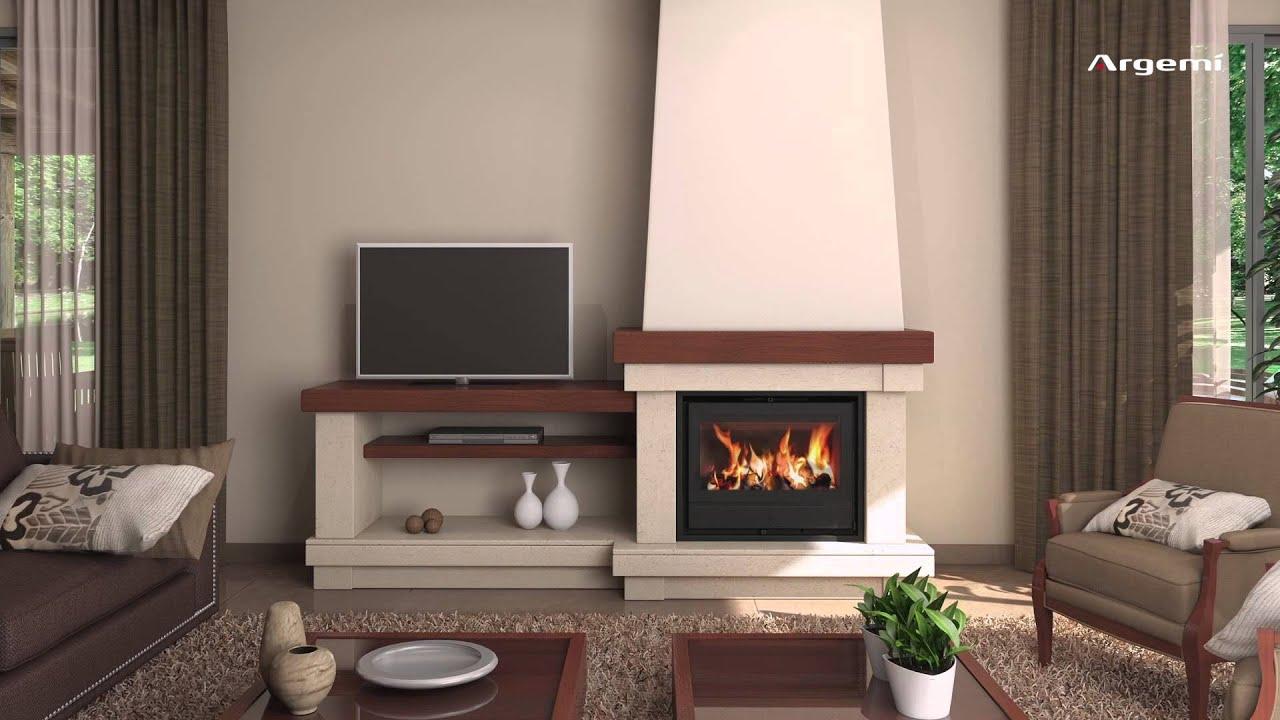 Dise o de chimeneas modernas con recuperadores de calor argem youtube - Chimeneas de diseno de lena ...