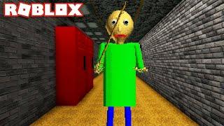 I Found Baldi Basics Education In Roblox, (Medium Scary, Im Died)