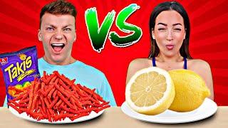SOUR FOOD VS SPICY FOOD CHALLENGE | Cringe Fam