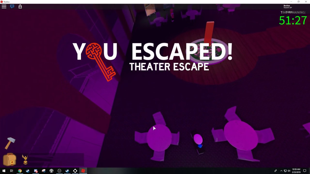 Roblox Escape Room Theater Escape Youtube