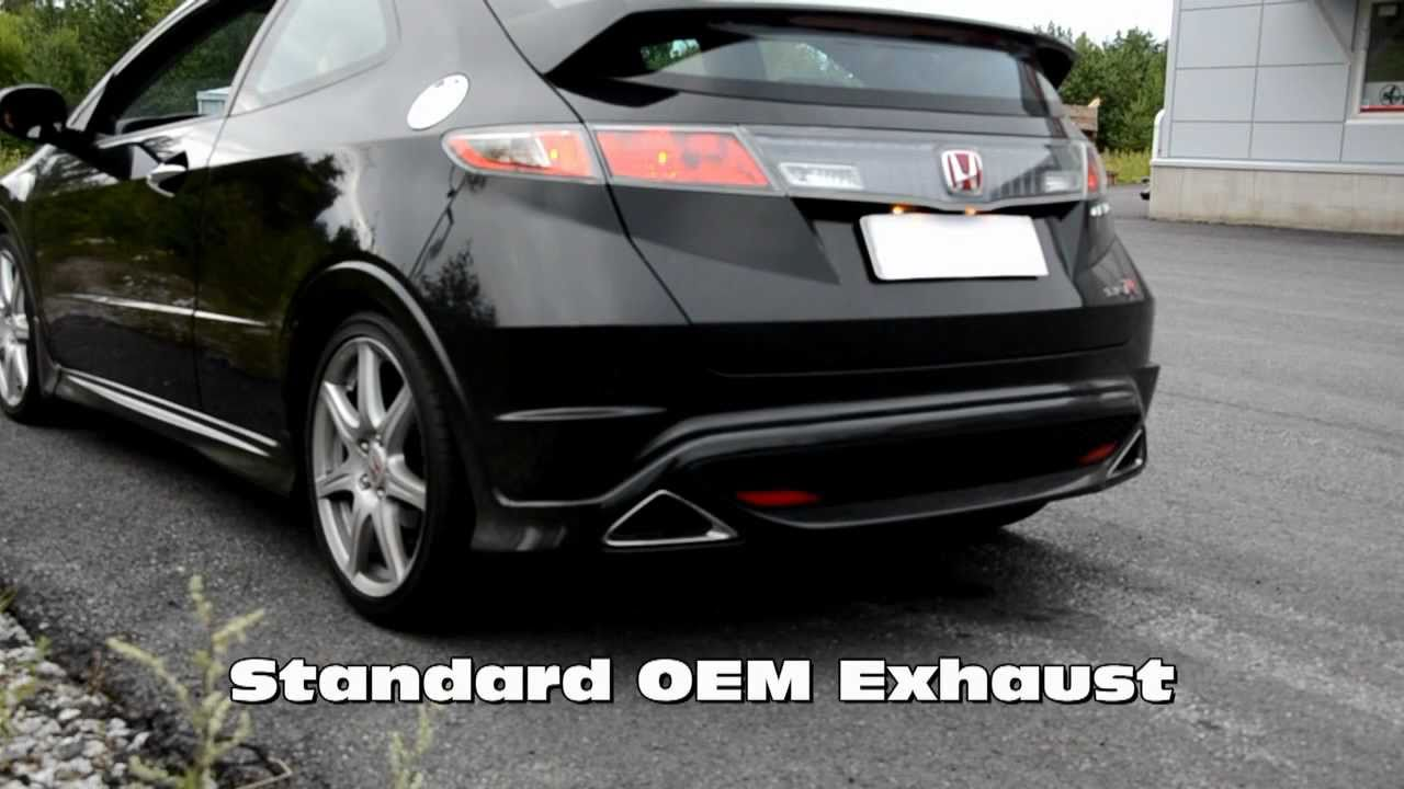 Civic Type R Fn2 Martelius Exhaust Sound Check Youtube