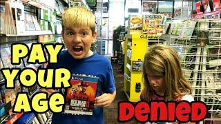 "Kid Temper Tantrum Mad At Gamestop For Denying ""Pay Your Age"" [ Original ]"