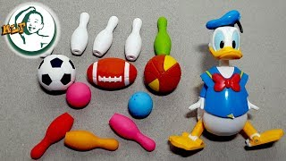 Learn different sports games for kids with Donald Duck!