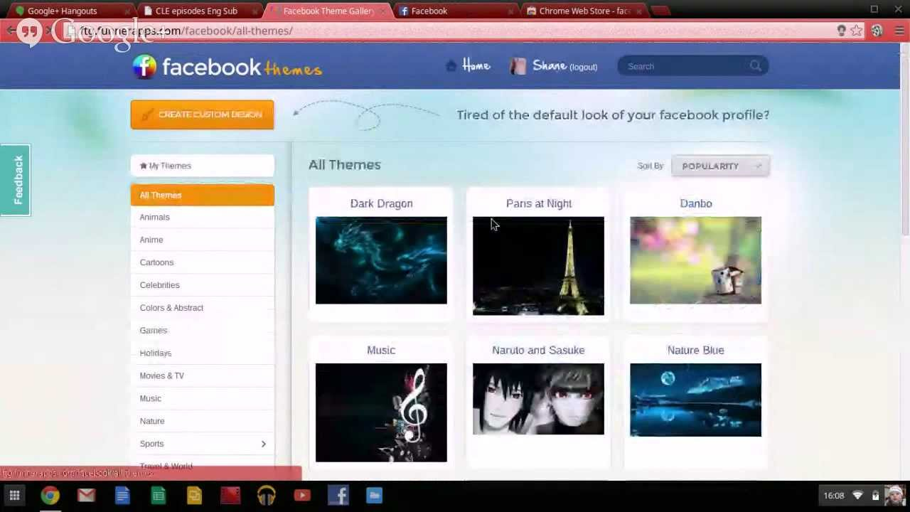 How to change your Facebook theme on a Chromebook