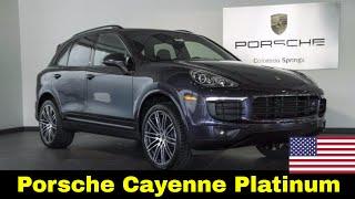 Porsche Cayenne Platinum 2017 - Quanto Custa nos EUA