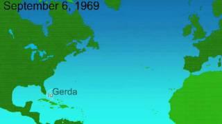 1969 Atlantic Hurricane Season Animation