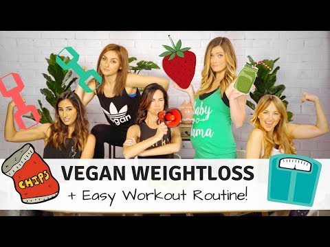 How to Lose Weight on a Vegan Diet + Quick At Home Workout Routine!