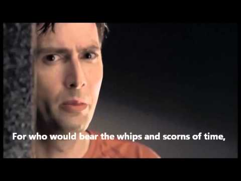 Hamlet's monologue - To be or not to be - David Tennant sub