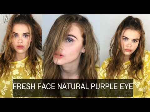 FRESH FACE BARE SKIN SUMMER GLITTER PURPLE EYE  Holland Roden Hardwear Beauty