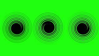 Circle Spiral Turning - Green Screen Animation