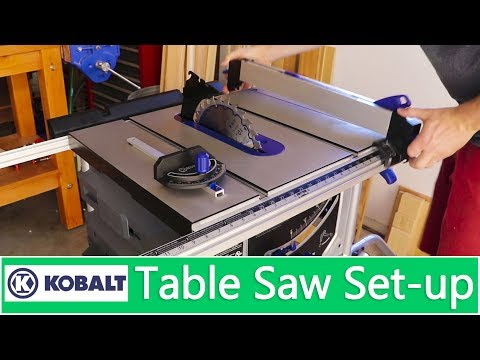 setting up Kobalt 15-Amp 10-in Carbide-Tipped Table Saw
