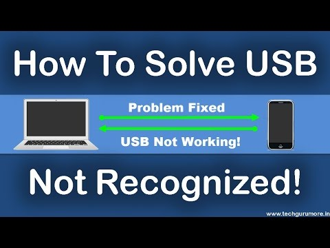 How To Solve USB Not Recognized - USB Not Working (windows 10/8/7)
