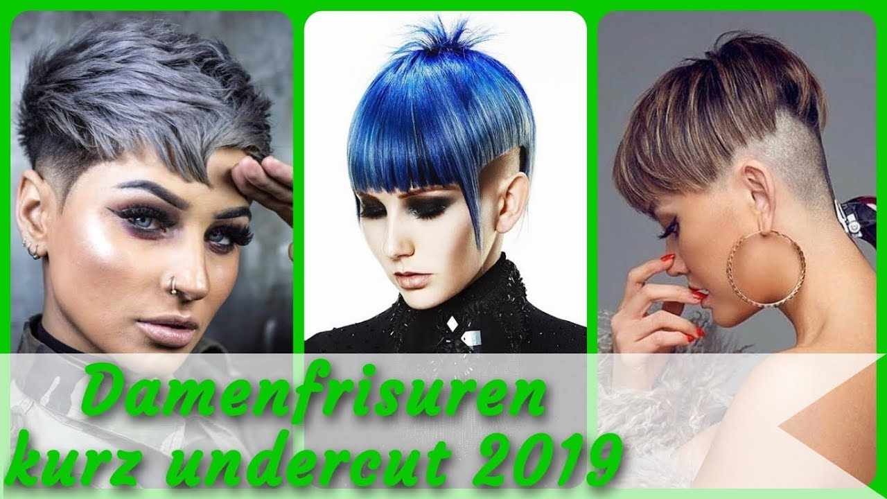 20 Frisurideen Fur Damenfrisuren Kurz Undercut 2019