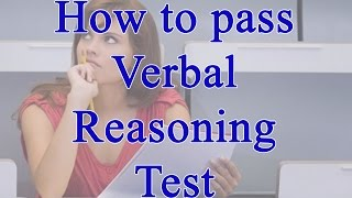 how to pass verbal reasoning test with test questions examples and answers explained