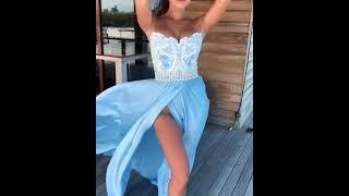 Голубое платье на выпускной 2021 MALINA Bonita