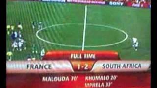 Raymond Domenech tres surpris du resultat France - Afrique du sud 2010