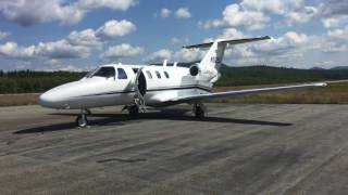 Cessna Citation CJ1 Landing/taking off at the Berlin Regional Airport [KBML](A Cessna Citation CJ1 lands at the Berlin Regional Airport in Milan, NH to drop off some people, who were headed to somewhere in northern New Hampshire., 2016-08-27T00:14:54.000Z)