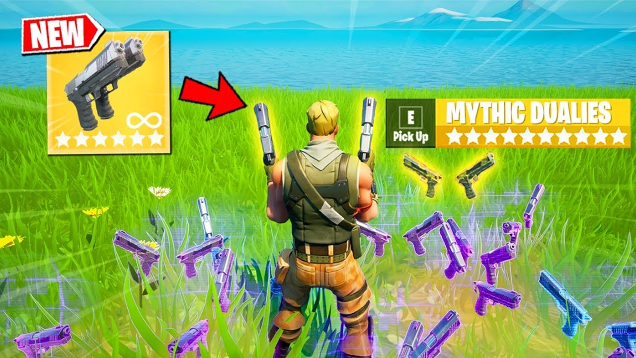 Download Fortnite Except I Only Use NEW Dual Pistols (Overpowered)