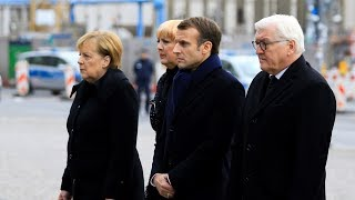Macron, Merkel meet amid WWI Centenary debate over European army
