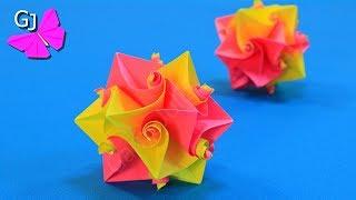 як зробити кусудама куля з паперу