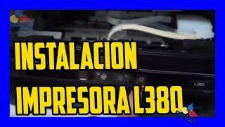 Como instalar DE IMPRESORA EPSON L380 Y CARGA DE TINTA
