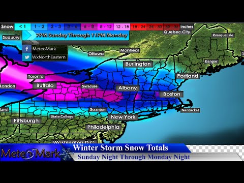 Winter Storm Targets Northeast To Start New Week : April 3, 2016