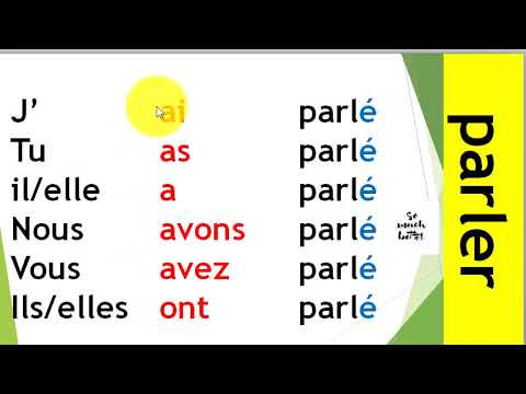 Conjugaison Les Verbes Du 1er Groupe Au Passe Compose الماضي المركب Youtube