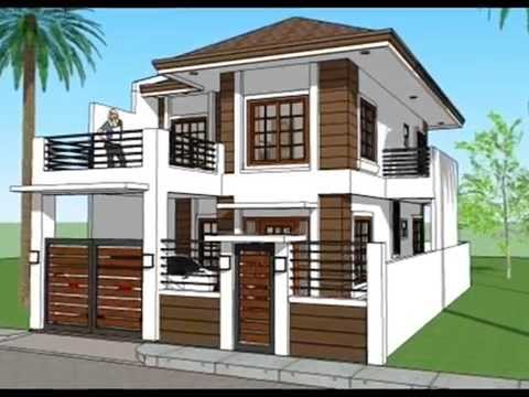 Planuri case cu etaj proiecte case asia youtube for Small house outer design