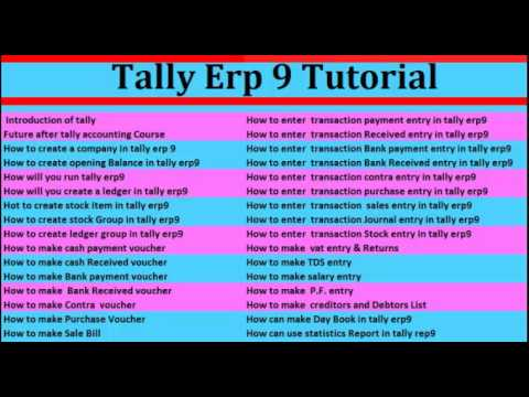 Tally erp 9 part 1 Introduction in hindi YouTube – How to Make a Voucher