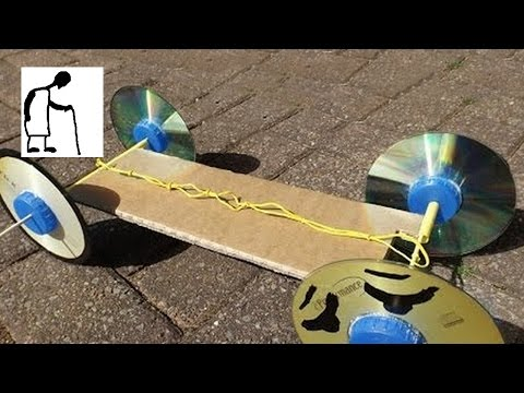 Rubber Band Powered Car without Hot Glue