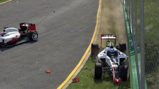 f1 2016 crash compilation part 1