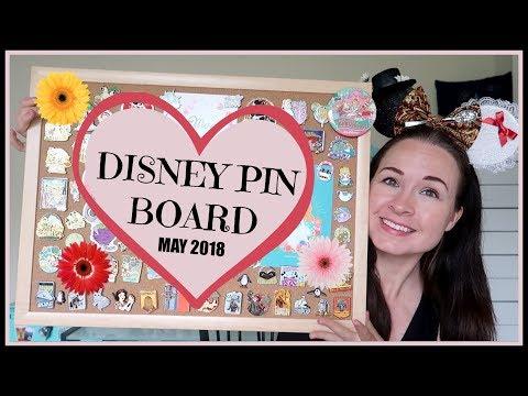 DISNEY PIN COLLECTION: My MAY 2018 Pin Board!