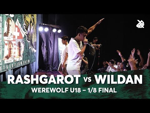 RASHGAROT vs WILDAN | Werewolf Under 18 Beatbox Championship 2018 | 1/8 Final