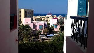 Вид из окна Zahabia Hotel & Beach Resort. Хургада. Египет.