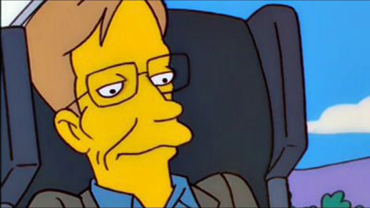 Stephen Hawking S One Request When He Appeared On The Simpsons Youtube