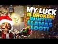 NO WAY!? MY LUCK IS BROKEN! WINTER LLAMAS GALORE! | Fortnite STW