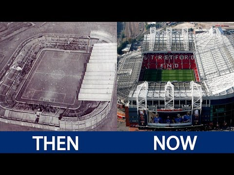 Premier League Stadiums Then and Now