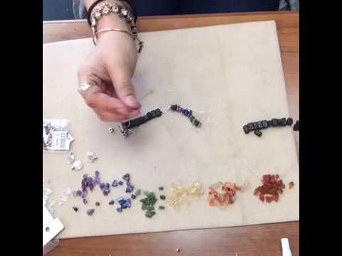 Gemstone Chakra Stretch Bracelet