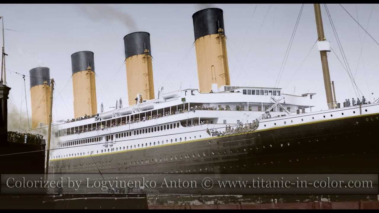 Titanic In Color Youtube