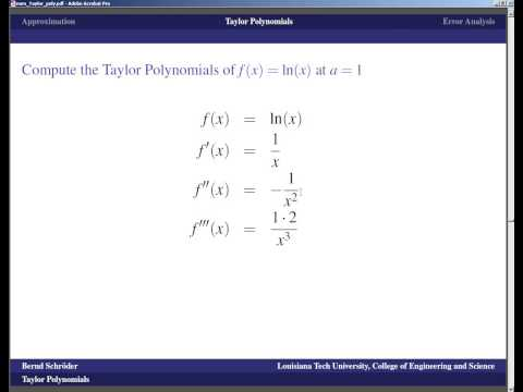 Concise Modular Calculus [40/97]: Taylor Polynomials (1/3 on Numerical Methods)
