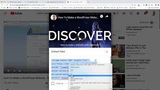 Add Video Section - WordPress