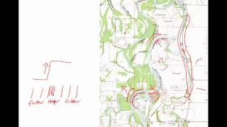 Stream Processes on Topographic Maps
