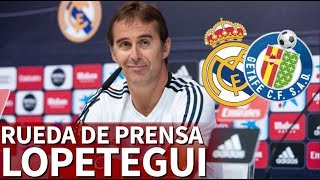 Real Madrid Vs. Getafe | Rueda de prensa completa de Lopetegui  Diario AS