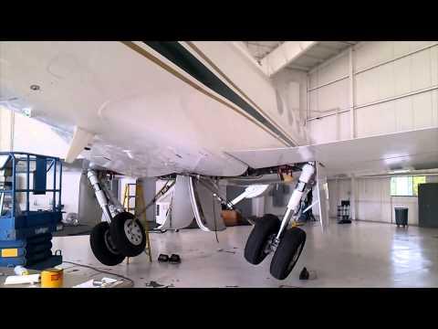 Gulfstream 550 Undergoing Maintenance