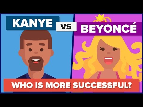 Kanye West vs Beyonce - Who Is More Successful? - Celebrity Comparison