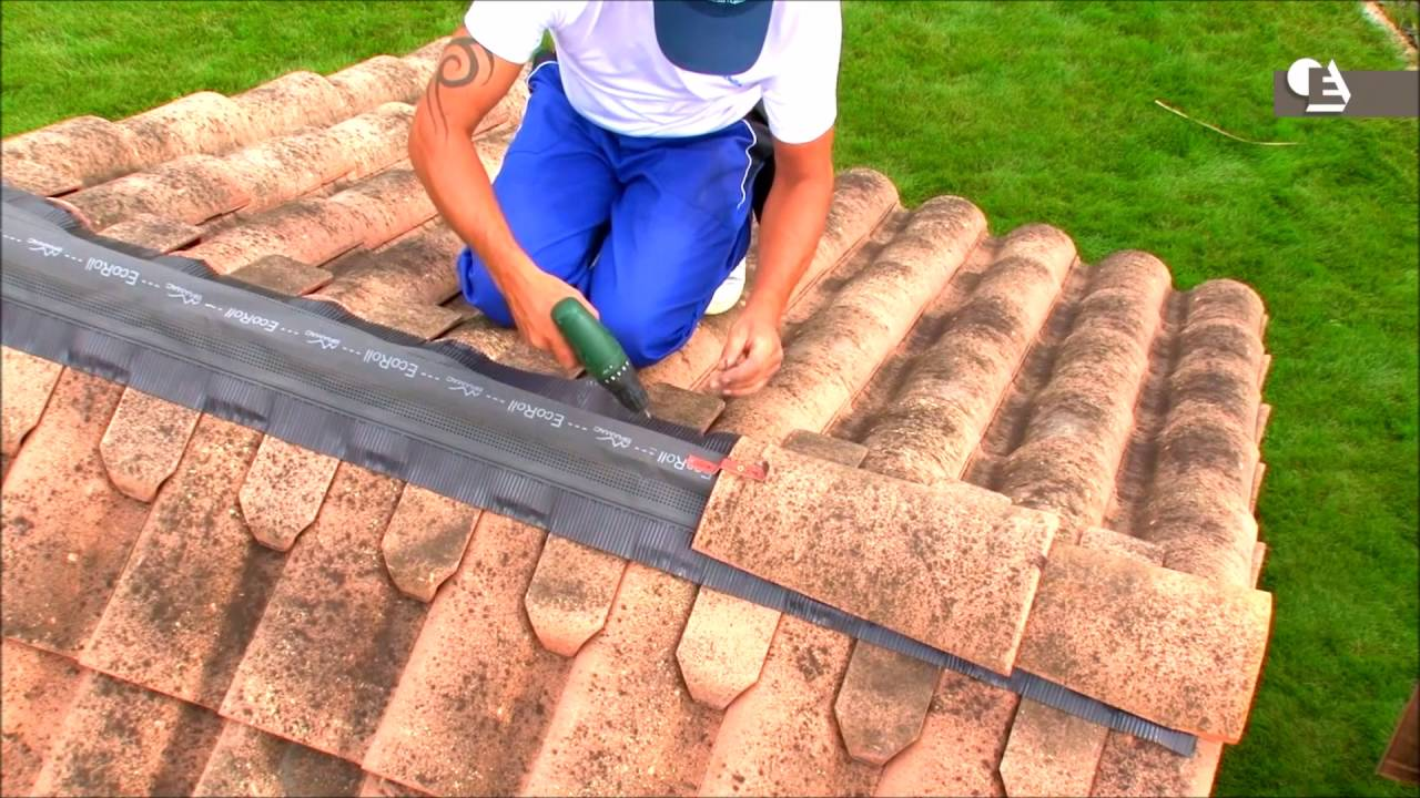 Comment Poser à Sec Faitage Ventilé Avec Closoir Aluminium Et Closoir Terre Cuite