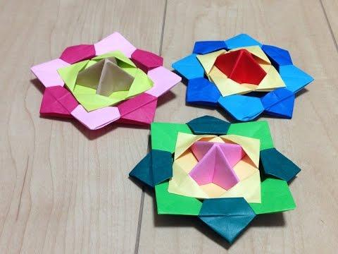 クリスマス 折り紙:折り紙 こま 折り方-youtube.com