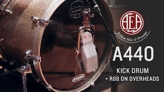 AEA A440 Kick Drum + R88 Overheads - Listening Library