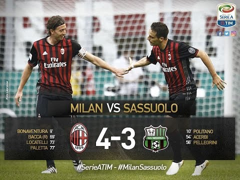 AC Milan vs Sassuolo 4-3 All Goals & Highlights  Amazing Comeback