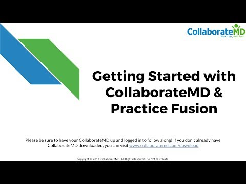 Getting Started with CollaborateMD & Practice Fusion | Colla